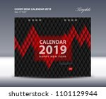 cover desk calendar 2019 design ... | Shutterstock .eps vector #1101129944