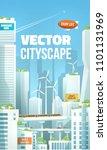 vector future eco city... | Shutterstock .eps vector #1101131969