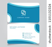 modern blue name card and... | Shutterstock .eps vector #1101132326