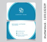 modern blue name card and... | Shutterstock .eps vector #1101132329
