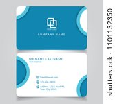 modern blue name card and... | Shutterstock .eps vector #1101132350