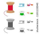 thread reel  sewing machine ... | Shutterstock .eps vector #1101133040
