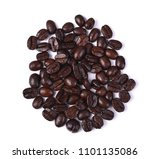 coffee beans on white background | Shutterstock . vector #1101135086