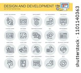 design and development. set of... | Shutterstock .eps vector #1101140363