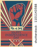 usa independence day 4th of... | Shutterstock .eps vector #1101143588