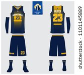 basketball uniform or sport... | Shutterstock .eps vector #1101145889