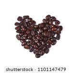 coffee beans on white background | Shutterstock . vector #1101147479