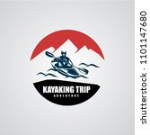 canoe or kayaking logo designs... | Shutterstock .eps vector #1101147680