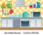 kitchen theme image 1   vector... | Shutterstock .eps vector #110115020