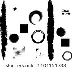grunge design elements . brush... | Shutterstock .eps vector #1101151733