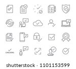 check list icon set  stamp icon ... | Shutterstock .eps vector #1101153599