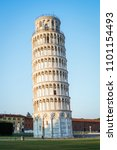 leaning tower of pisa in pisa ... | Shutterstock . vector #1101154493