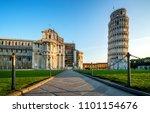 leaning tower of pisa in pisa ... | Shutterstock . vector #1101154676