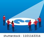 businessmen find problems | Shutterstock .eps vector #1101163316