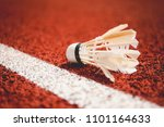badminton ball damaged from the ...   Shutterstock . vector #1101164633