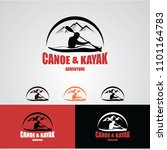 canoe or kayaking logo designs... | Shutterstock .eps vector #1101164783