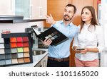 competent smiling cheerful... | Shutterstock . vector #1101165020