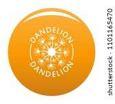 delicate dandelion logo icon.... | Shutterstock .eps vector #1101165470