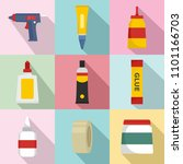 glue stick adhesive icons set.... | Shutterstock .eps vector #1101166703
