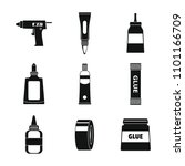 glue stick adhesive icons set.... | Shutterstock .eps vector #1101166709