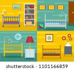 baby crib cradle bed banner... | Shutterstock .eps vector #1101166859