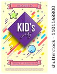 kid's party design template.... | Shutterstock .eps vector #1101168800