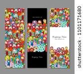 banners set  matryoshka ... | Shutterstock .eps vector #1101171680