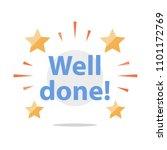 well done  congratulations... | Shutterstock .eps vector #1101172769