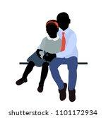 silhouette of children sitting | Shutterstock .eps vector #1101172934