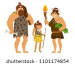 stone age family. vector... | Shutterstock .eps vector #1101174854