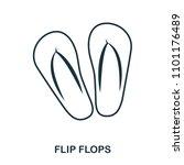 flip flops icon. flat style...