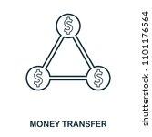 money transfer icon. flat style ...