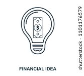 financial idea icon. flat style ...