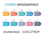 infographic template with five... | Shutterstock .eps vector #1101177029