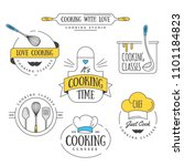 cooking class vintage design... | Shutterstock .eps vector #1101184823