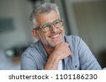 middle aged guy with trendy... | Shutterstock . vector #1101186230