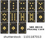 playing cards spade suit. poker ...   Shutterstock .eps vector #1101187013