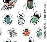seamless pattern with... | Shutterstock .eps vector #1101191759