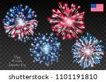 american flag with fireworks on ...   Shutterstock .eps vector #1101191810