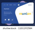 quality one page reunion... | Shutterstock .eps vector #1101192584