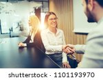 picture of business people... | Shutterstock . vector #1101193970