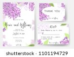 save the date card  wedding... | Shutterstock .eps vector #1101194729