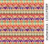 ethnic boho seamless pattern.... | Shutterstock .eps vector #1101195089