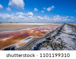 abandoned salt beach with... | Shutterstock . vector #1101199310