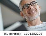 trendy mature guy with...   Shutterstock . vector #1101202208