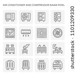 air conditioner icon. including ...   Shutterstock .eps vector #1101209330