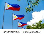 philippines national flag... | Shutterstock . vector #1101210260