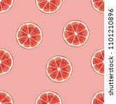 grapefruit seamless pattern... | Shutterstock . vector #1101210896