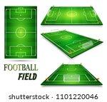 football field  soccer field... | Shutterstock .eps vector #1101220046