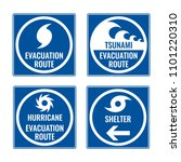 evacuation route and shelter in ... | Shutterstock .eps vector #1101220310